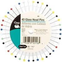 Dritz ガラスヘッドピン サイズ20 40パック 60 (3個パック)