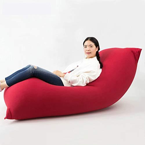 ビーズクッション 特大 人をダメにするソファ 座布団 座椅子 豆袋 なまけ者ソファー カバー 洗濯可能 120*65cm (レッド)