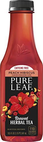 Pure Leaf Herbals Iced Tea, Peach Hibiscus, 18.5 Fl Oz Bottles, (12 Pack)