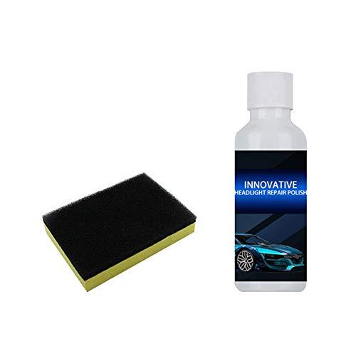 Yusea Scheinwerfer Aufbereitungs Reparatur polnische Flüssigkeit, Scheinwerfer Reiniger, Wiederherstellung der Polierflüssigkeit für Autoscheinwerfer Klare Scheinwerferbeschichtung für das Auto