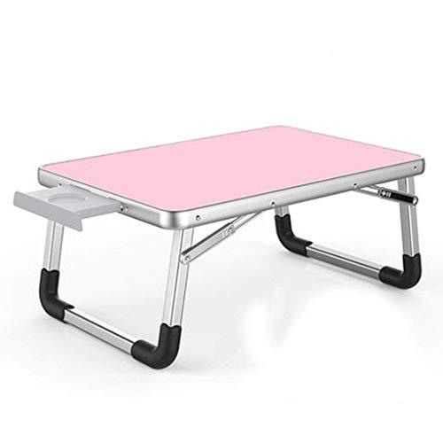 WMYATING Mesa plegable para ordenador, cama, escritorio, mesa plegable, mesa pequeña, mesa perezosa, dormitorio de estudiantes, mesa de estudio (color rosa, tamaño: edición de lujo, 70 x 50 cm)