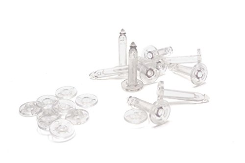 vhbw 10x Sicherungsschraube Stift Set transparent passend für Drohne Multicopter Quadrocopter DJI Phantom 2, Zenmuse H3 3D, Zenmuse H4 3D