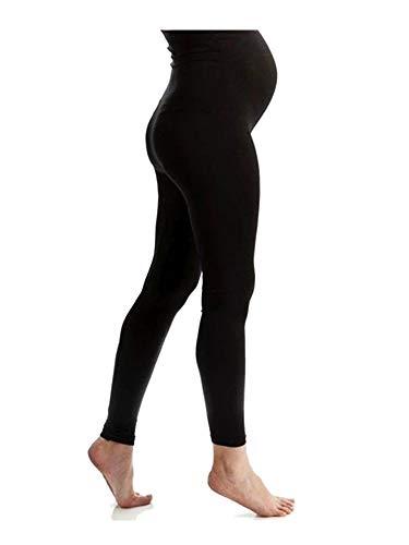 Komfortable Umstandsleggings für den Alltag und Sport Schwanger Damen Schwangerschafts-Leggings Umstandsmode (Schwarz, Medium)