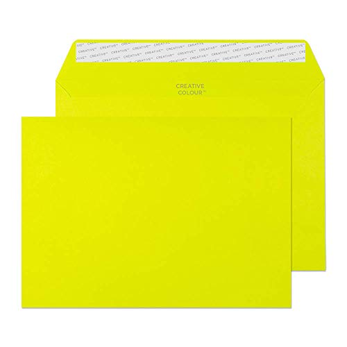 Creative Colour C5 162 x 229 mm Wallet Peel and Seal Envelope - Acid Green (Pack of 500)