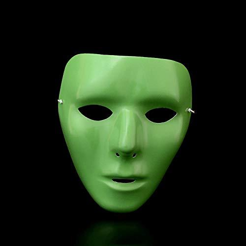 YiYuDe Masken Paintball-Schutzmasken Halloween-Horror-Mörder-Straßentanz-Todesernte-Tagestänzer Vendetta, Leuchtende Frau des Straßentanzes
