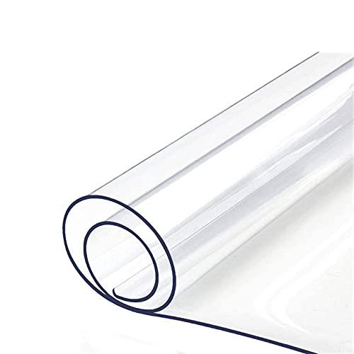 Transparente Limpiable Manteles Impermeable PVC Limpiar Limpio Mantel Casa Cena Table Cove, 20 tamaños Disponibles (Color : 1.5mm, Tamaño : 80x80cm/31.5x31.5in)