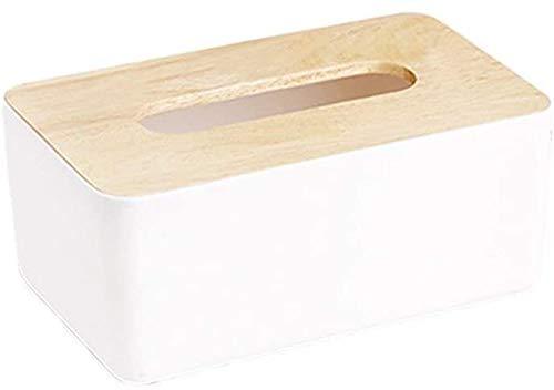 Qivor TLF-FF Inicio Servilletas de Madera plástico de baño Simple Creativo European Tissue Titular de la Caja de la Caja del Tejido (Color : Q)