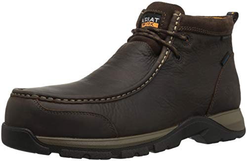 Ariat Work Men's Edge LTE MOC Composite Toe Western Boot, Dark Brown-3, 11 D US