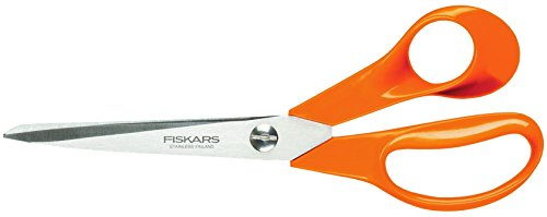 Fiskars Universalschere, Länge: 21 cm, Rostfreie Stahl-Klinge/Kunststoff-Griffe, Orange, Classic, S90, 1001539