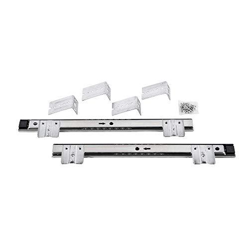 Läuferleisten für die Anbringung von Tastaturhalterungen oder Schubladen unter dem Schreibtisch.