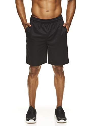HEAD Men's Workout Gym & Running Shorts w/Elastic Waistband & Drawstring - Agent Black Heather, Small