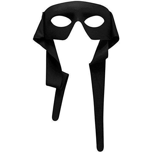 Venetian Mardi Gras Half Mask - Black