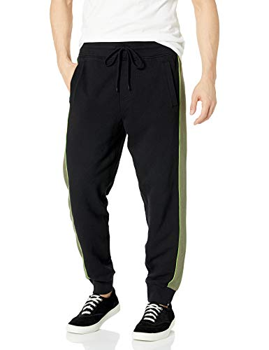 True Religion Herren Fashion Slim Leg fit Jogger Sweat Pant Jogginghose, Schwarz/Militant Green, XX-Large