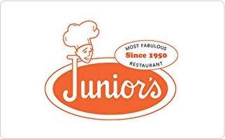 Junior's Restaurant & Cheesecake Gift Card ($25)