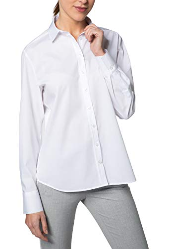 eterna Langarm Bluse MODERN Classic Stretch unifarben