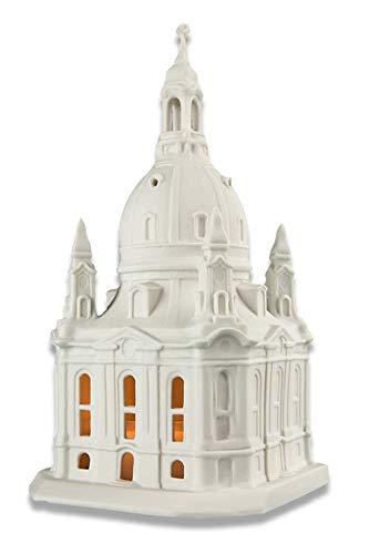 Porzellan Modell Frauenkirche Dresden matt   mit Bodenplatte   aus Freiberger Porzellan   16 cm hoch   Handgefertigt in Deutschland