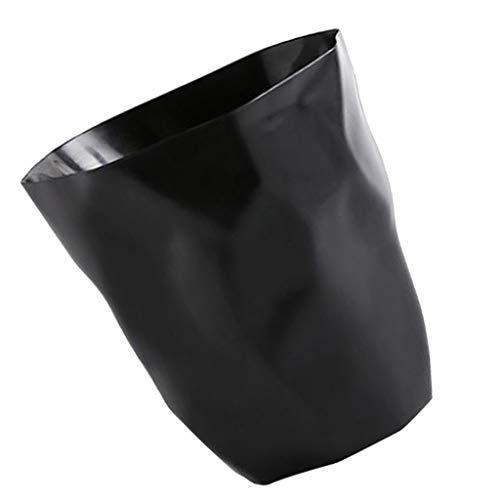 Fenteer Abfalleimer – Papierkorb für Büro, Badezimmer, Wohnzimmer - Schwarz Groß