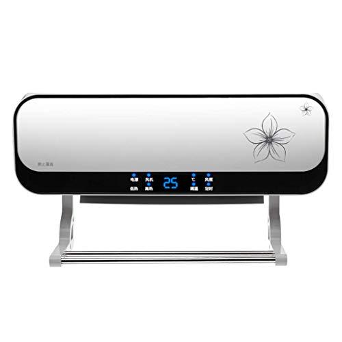 L.TSA 2000W Wall-Mounted air Conditioner Fan, Waterproof Bathroom Ceramic heater, Adjustable Thermostat, Digital Automatic Timer, Detachable Drying Rack