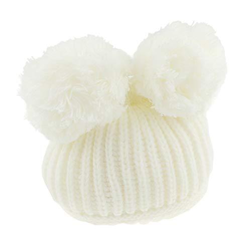 Glamour Girlz Sombrero de bebé súper suave para bebés y niñas (12-24 meses, color crema)