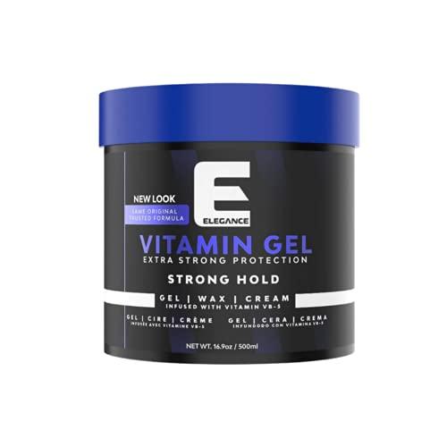 Elegance Vitamin Pro-VB5 Hair Styling Gel Strong Hold 16.9 Oz