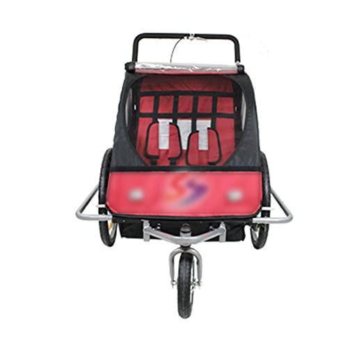 DUTUI Remolque para Bicicleta De Montaña, Remolque Trasero, Vehículo De Trekking Manual, Gran Espacio, Asiento Plegable Y Cómodo