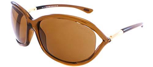 Tom Ford JENNIFER TF08 Sunglasses Color 48H Polarized, Brown, 61-16-120