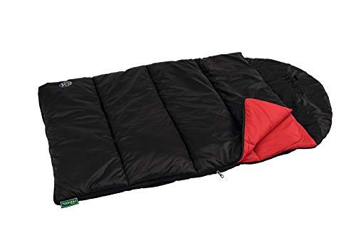 HONTER hondendeken en slaapzak Kalix 100x60 cm, zwart/rood