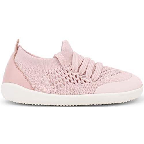 Bobux - Xplorer Aktiv Knit Trainer, gattonamento e primi passi, scarpe da ginnastica per bambini con chiusura elasticizzata rosa Size: 18 EU