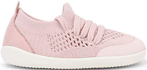 Bobux - Xplorer Aktiv Knit Trainer, gattonamento e primi passi, scarpe da ginnastica per bambini con chiusura elasticizzata rosa Size: 21 EU