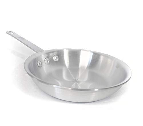 10 Inch Natural Finish Aluminum Frying Pan, Fry Pan, Commercial Grade - NSF Certified