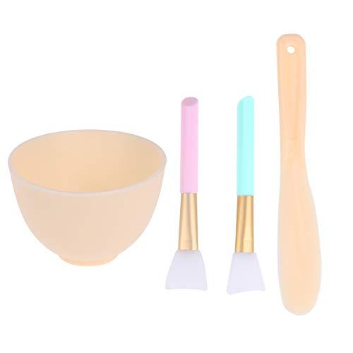 Beaupretty Gesichtsmaske Schüssel Löffel Set DIY Silikon Gesichtsmaske Pinsel Stick für Frauen, 1 Set
