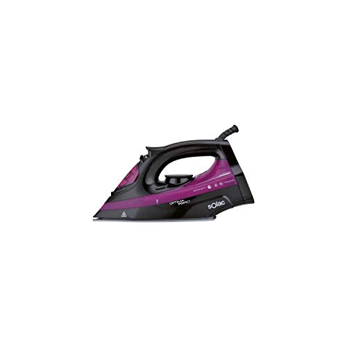 Solac New Optima Pro PV2114 - Plancha de Vapor (2600 W, Suela de cerámica), Color Negro y Rosa