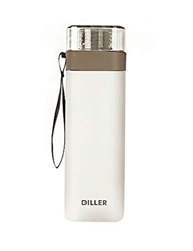 LLJPFD7J 700 ml Sportflasche mit großem Fassungsvermögen und Waage ohne BPAtritan Sportflasche, geeignet for Sport- und Fitnessfahrten for Erwachsene und Kinder (Color : Gray)