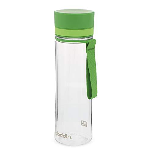 Aladdin Aveo Water Bottle 0.6L Verde – Amplia Abertura - Libre de BPA - Boquilla Para Beber Fácilmente - Resistente a Manchas y Olores - Apta Para Lavavajillas
