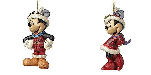 Die Kleine Geschenkidee - Kombiset - enesco Disney Traditions - Sugar Coated Mickey Mouse + Sugar Coated Minnie Mouse - Walt Disney Christbaumschmuck