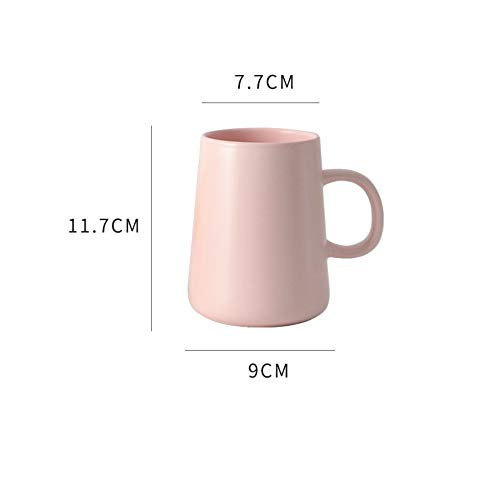 MSNLY Ins Simple Macaron-Colored Ceramic Large Capacity Men's and Women's Coffee Cup Ceramic Water Cup Mass Household Nordic Style Mug