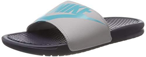 Nike Herren Benassi JDI Printed Dusch-& Badeschuhe, Grau (Gridiron/Teal Nebula/Atmosphere Grey 028), 44 EU