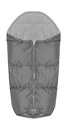 Lorelli Thermo-Fußsack für Kinderwagen wasserdicht, winddicht mit Reißverschluss grau