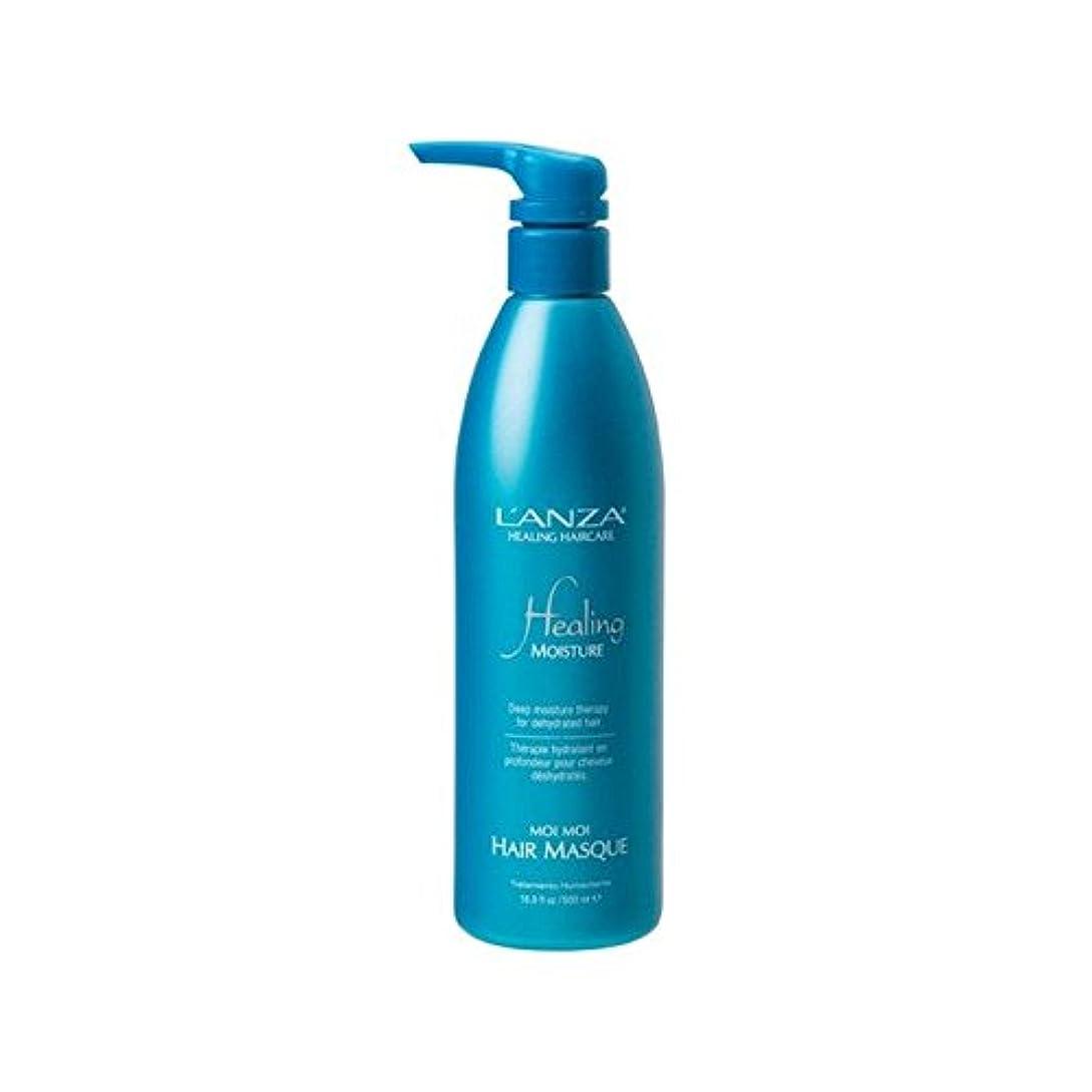 ラバぎこちないマルコポーロアンザ癒しの水分モイモイヘア仮面劇(500ミリリットル) x2 - L'Anza Healing Moisture Moi Moi Hair Masque (500ml) (Pack of 2) [並行輸入品]