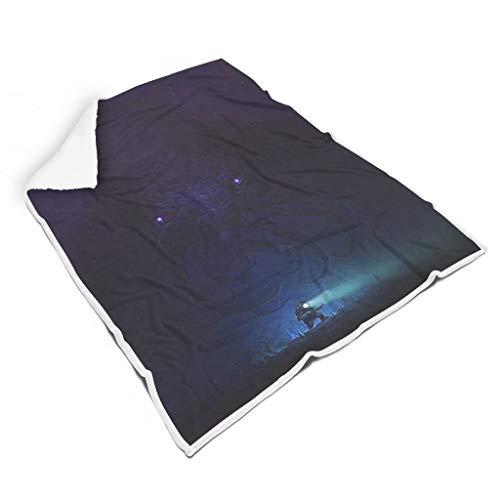 Annlotte Manta de felpa mullida Cthulhu lavable clida Shaggy manta para todas las estaciones blanco 127 x 152 cm