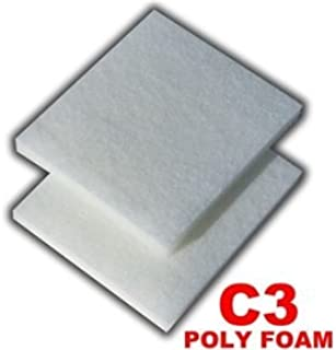 Zanyzap 12 Poly Foam Pads for Fluval C3 Filter