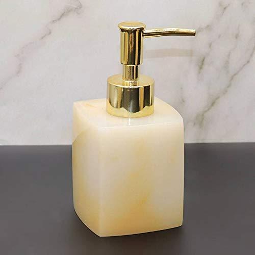 JSMY Dispensador de jabón de Manos 230ml Botellas de Bomba de loción de Mano de encimera Contenedor de loción Dispensadores de Ducha para baño Cocina-Albaricoque