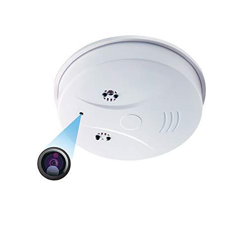 Camara Espia WiFi,LXMIMI Humo con cámara WiFi HD 1080P Mini Alarma de Humo Inteligente Nanny Camcorder Detección de Movimiento con Control Remoto del iOS Android
