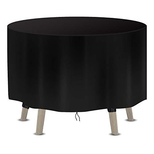 Callni Fundas de muebles de jardín impermeables, redondas, 600D, tela Oxford resistente a los rayos UV, fundas protectoras para sillas de mesa al aire libre, 230 x 100 cm
