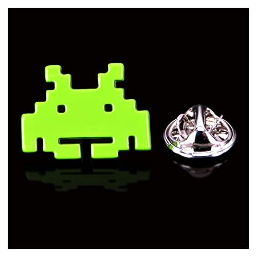 xczbb Broche Broche de diseño de Marca Solapa Perno para Hombres de Moda pequeños Insignias Mans Accesorios de Moda (Metal Color : 11, Size : 1)
