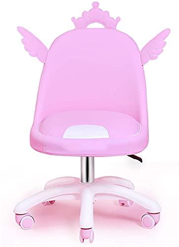 Silla de escritorio ergonómica de altura ajustable para el hogar, estudiantes, adolescentes, niñas, silla de juegos, sin brazos de oficina con ruedas, silla de ordenador de cuero Chayelu