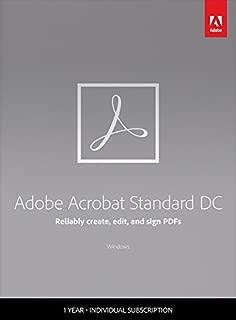 Adobe Acrobat Standard DC - 1 Year Subscription