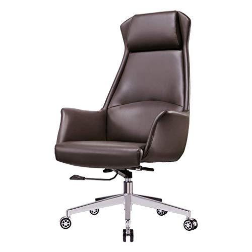 MKXF Silla ergonómica de la Oficina de la Silla de Boss, Silla giratoria de la Silla del Ordenador de la elevación, sillón reclinable Ejecutivo