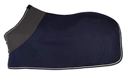 PFIFF 100983 Polarfleecedecke Fleecedecke Pferdedecke Abschwitzdecke, Blau/Grau, 135