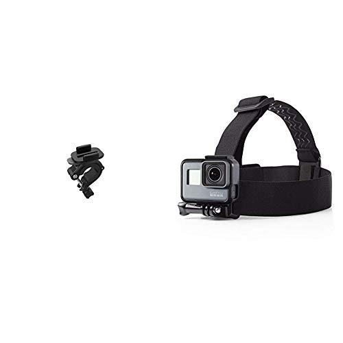 GoPro Lenker-/Sitzrohrstangen-/Rohrhalterung (Offizielles GoPro-Zubehör) & Amazon Basics Kopfgurt für GoPro Actionkamera